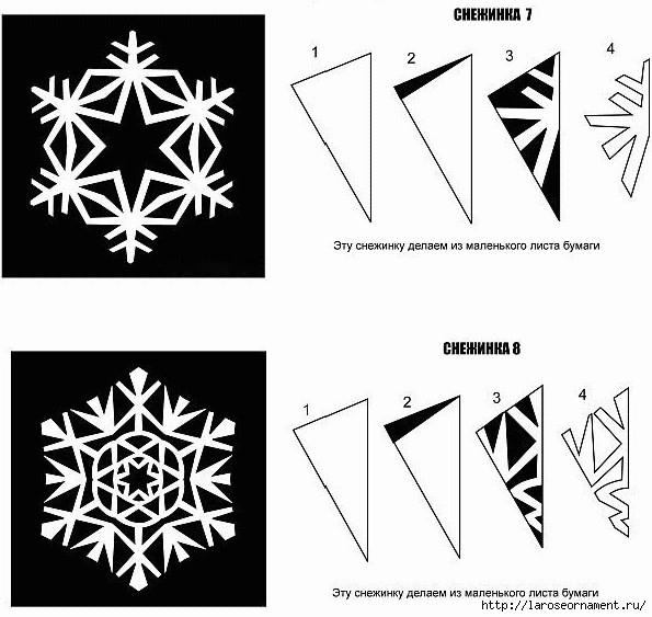 Вырезаем снежинки из бумаги своими руками поэтапно для
