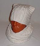 как связать красивую резинку для зимней шапки вариант для