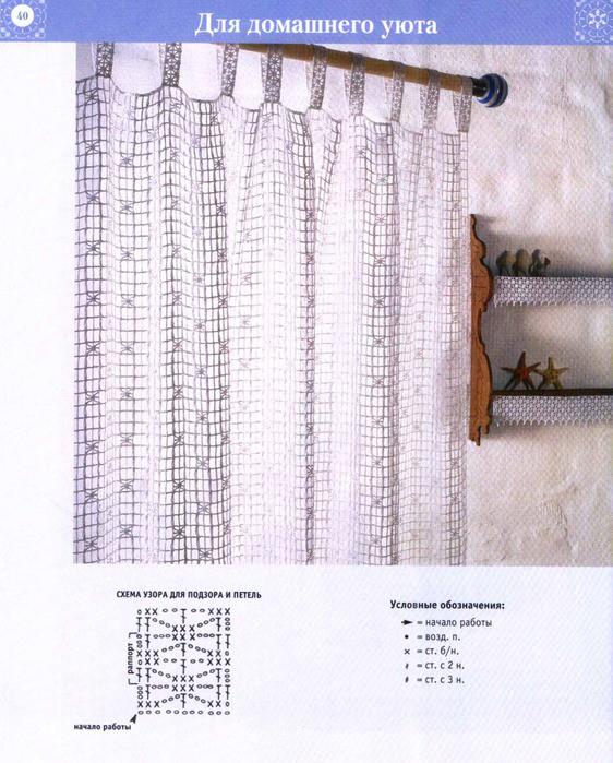 Тюль крючком и схемы